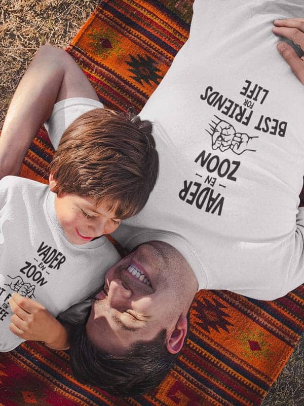vader zoon bff t shirts wit