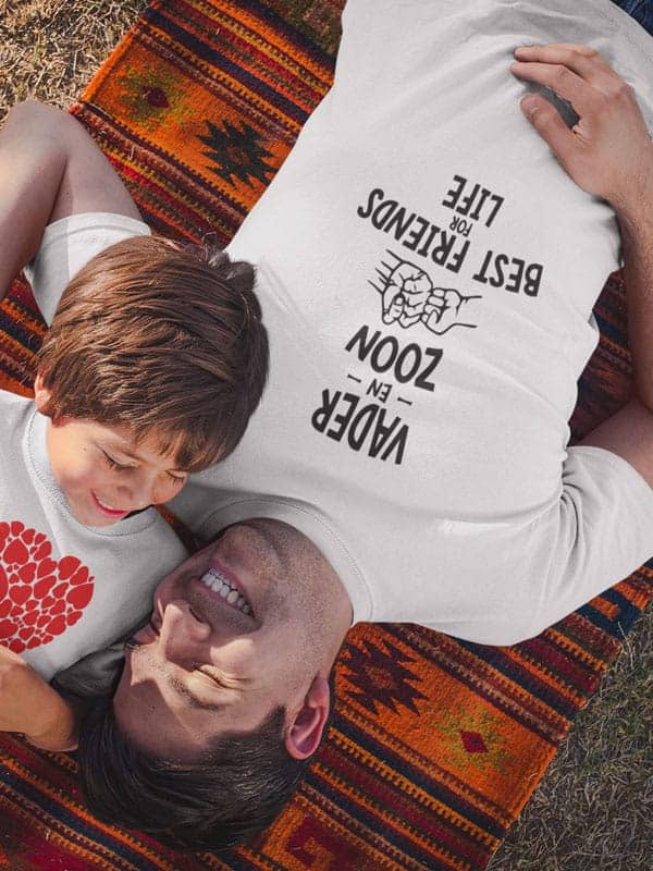 vader en zoon best vriends for life t shirts